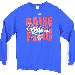 Chicago Cubs Tee Shirt 2016 League Champions   J10
